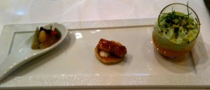Flight of amuse-bouche