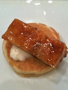 Scallop blini